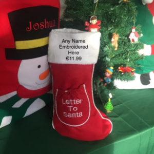 CHRISTMAS SOCK WITH NAME
