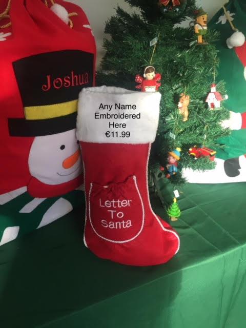 Letter Christmas Stockings.Letter To Santa