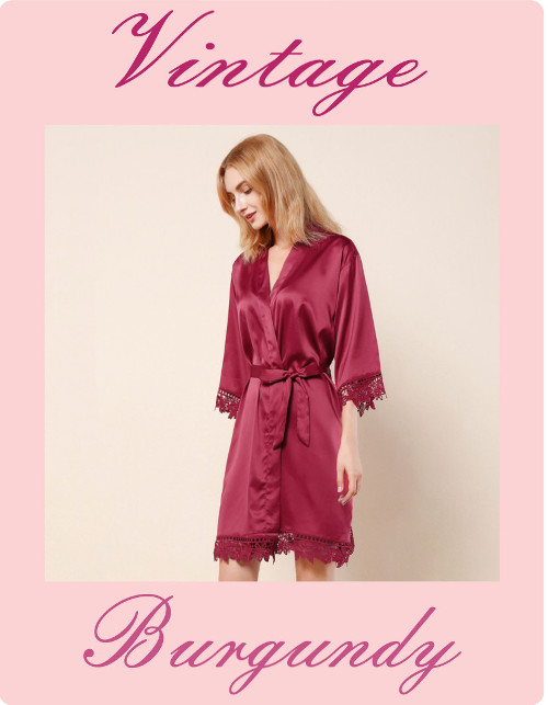 Vintage Lace Satin Robes
