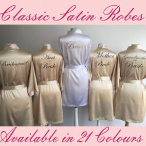 Personalised Classic Satin Robe